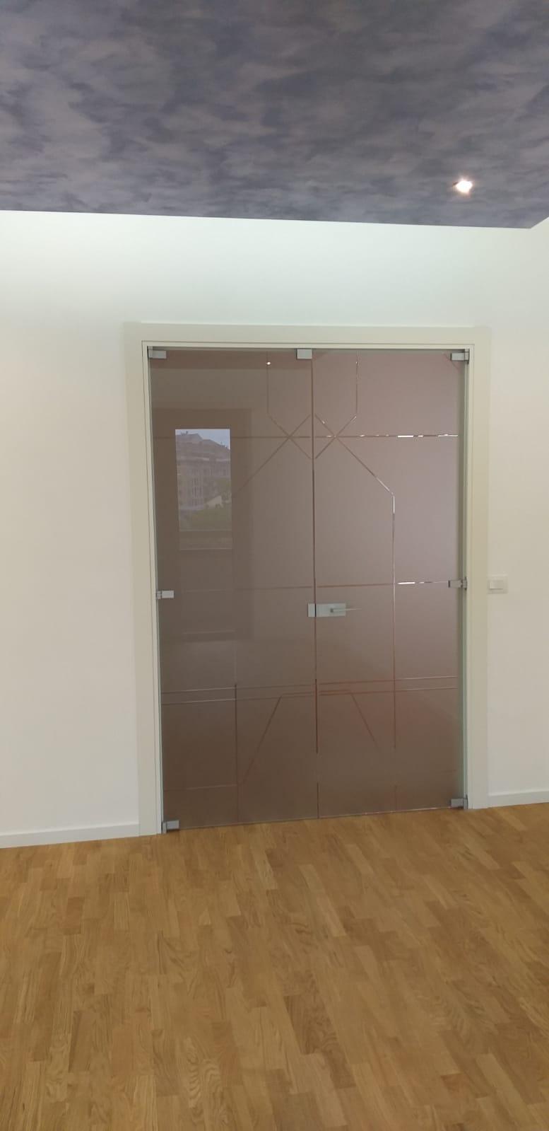 porta da interno in vetro